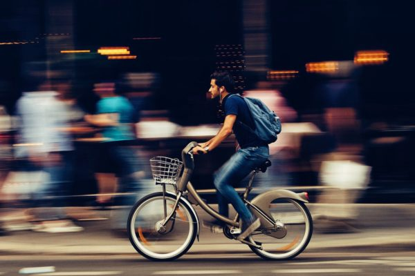 Bicycle ride on speed